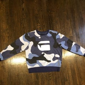 Blue Gstar Camouflage crew neck pull over